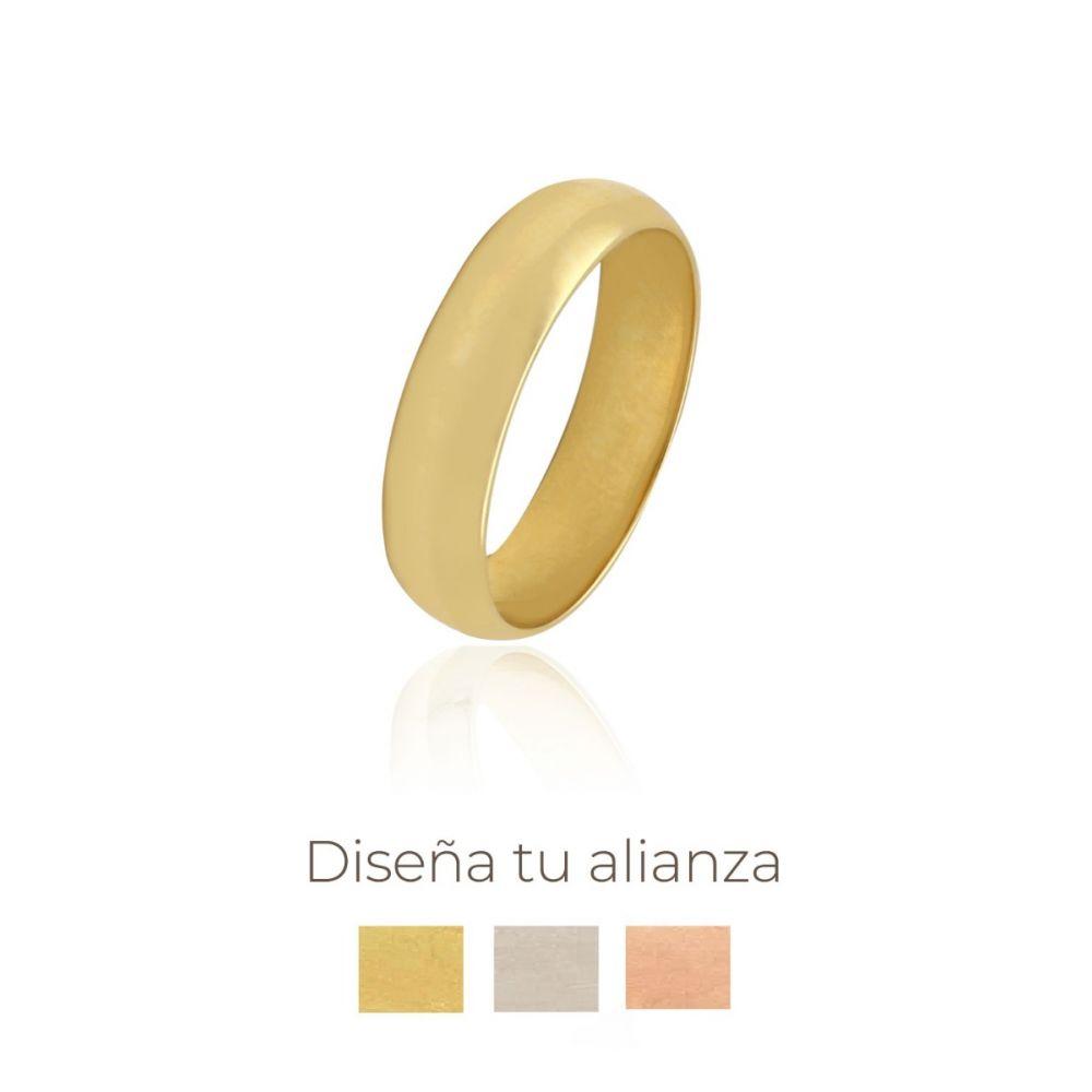 Alianza artesanal Oro 9kts 5mm