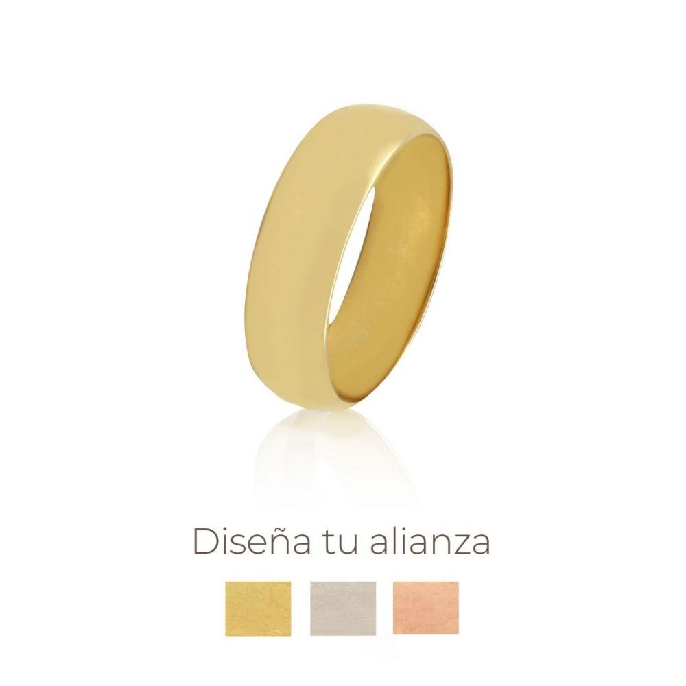 Alianza artesanal Oro 9kts 6mm