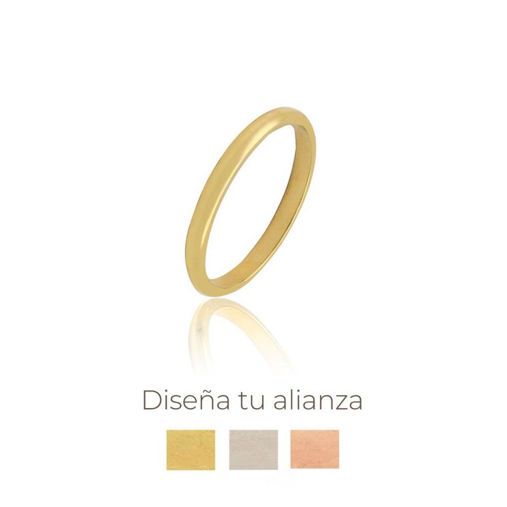 Alianza artesanal Oro 9 kts 2.5 mm