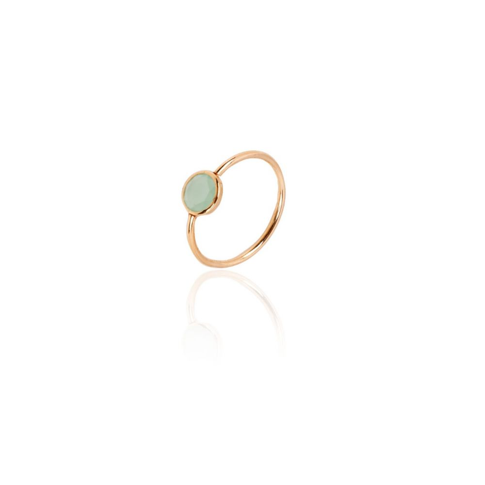 Anillo Oro 9k Verde Color