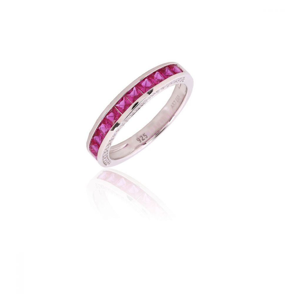 Anillo Plata Magenta COLOR