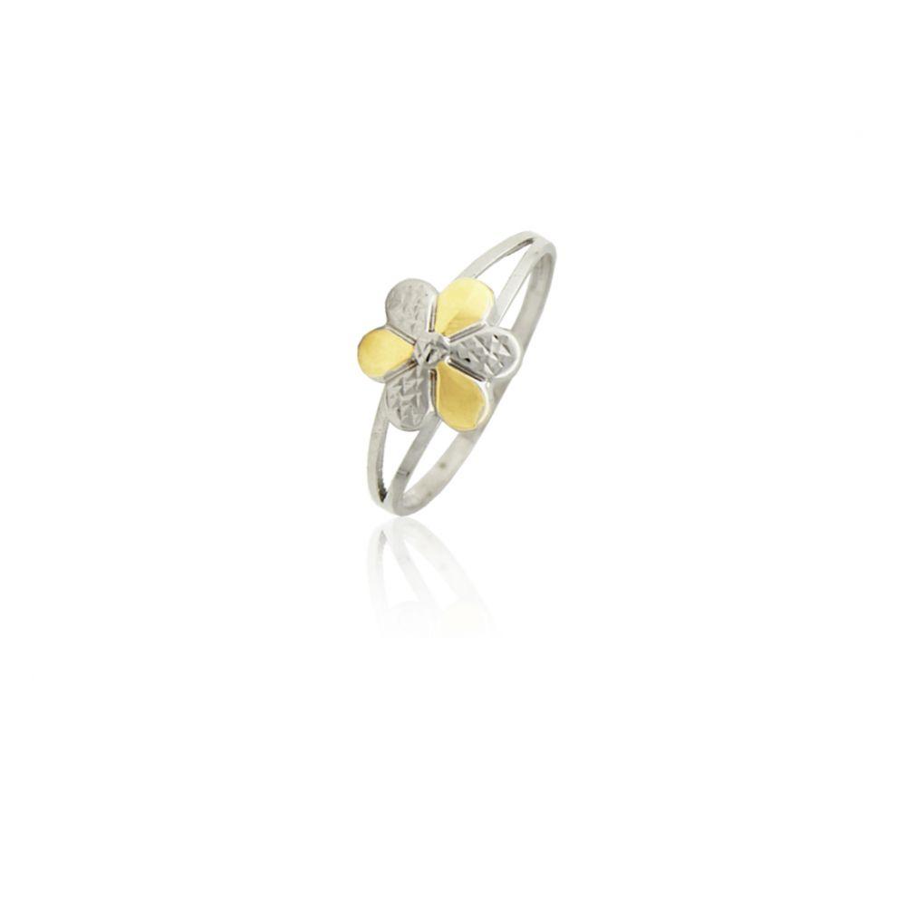 Anillo Oro y Plata flor Roselin