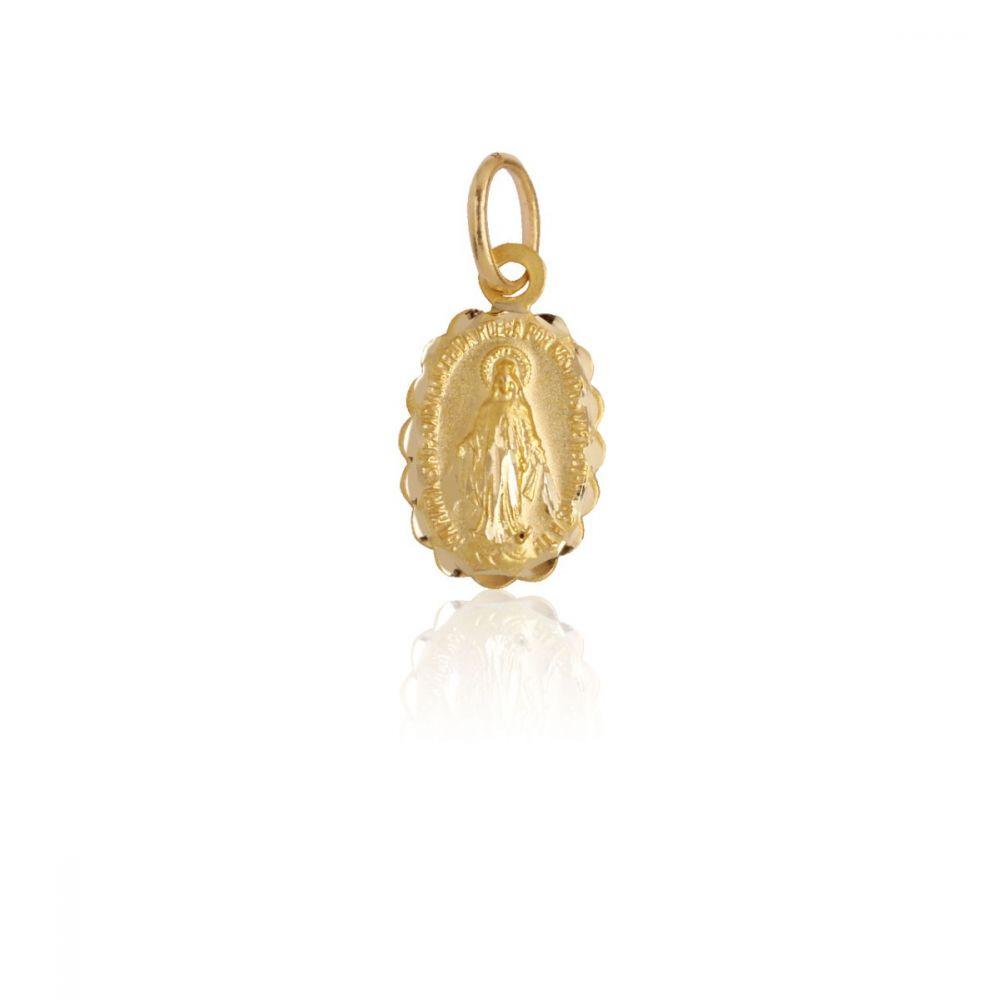 Medalla Oro ley 18k Virgen Milagrosa