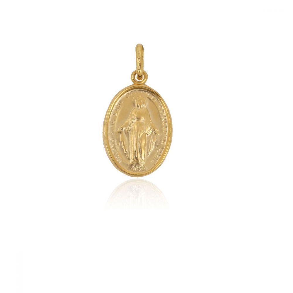 Medalla Oro 18kt Virgen La Milagrosa
