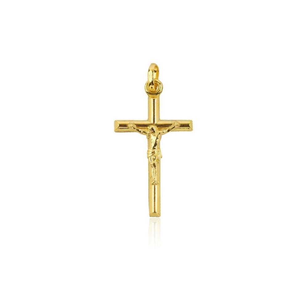 Colgante Oro 18k Cristo tubo