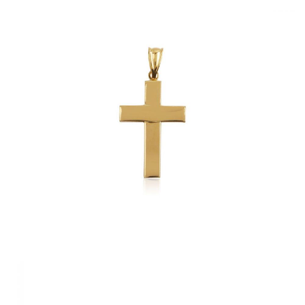 Colgante cruz Oro 18k lisa