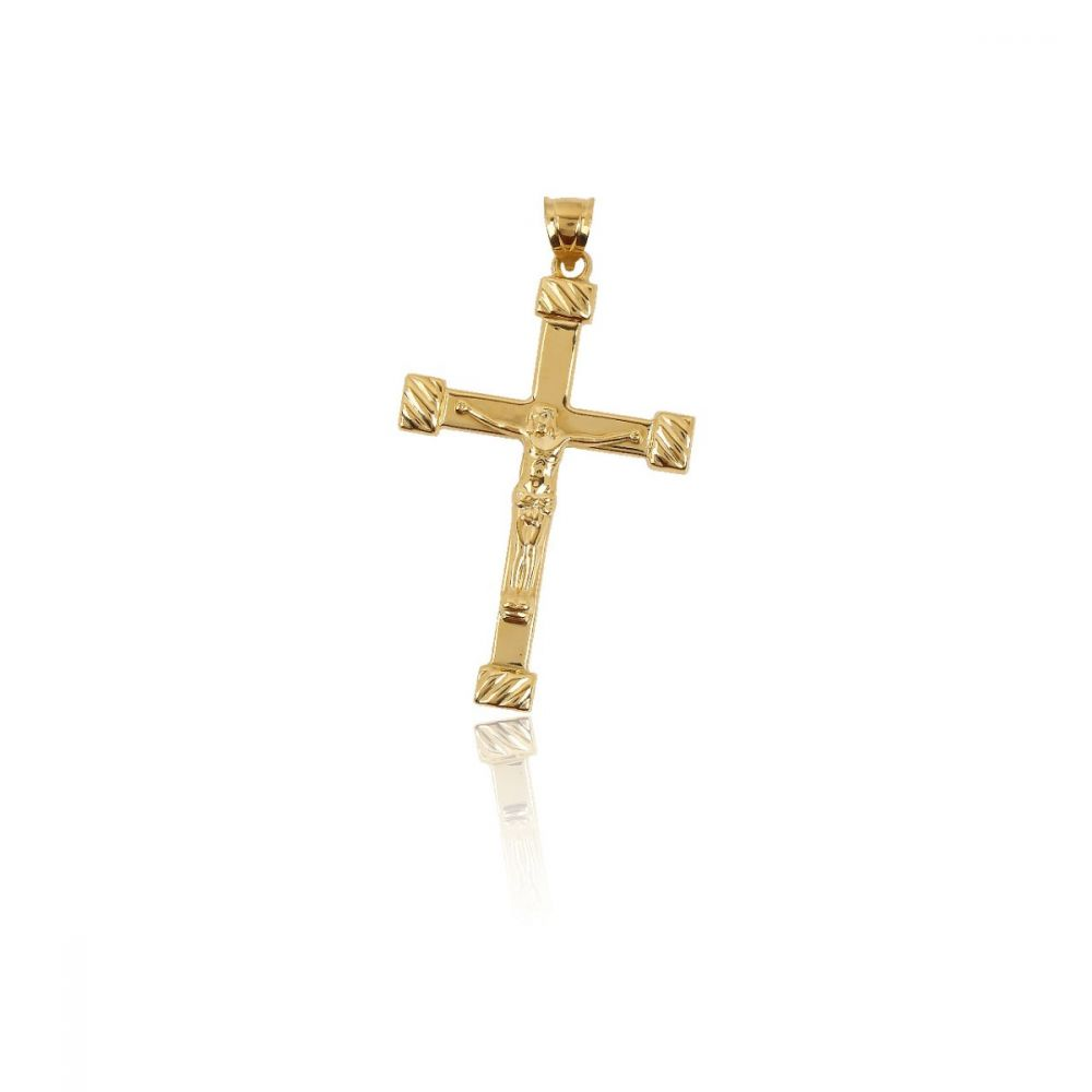 Cruz Cristo relieve Oro ley 18kts