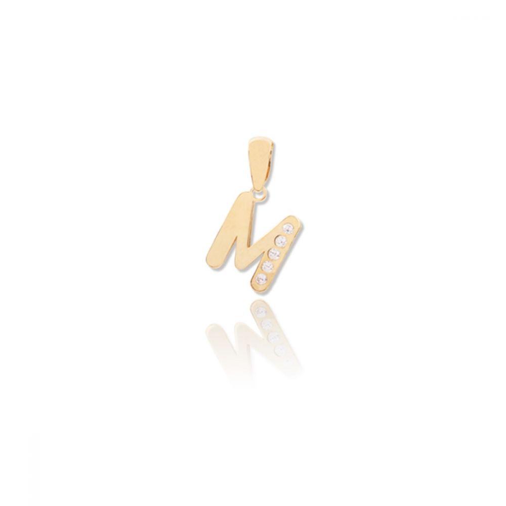 Colgante Letra Circonitas Oro 18k