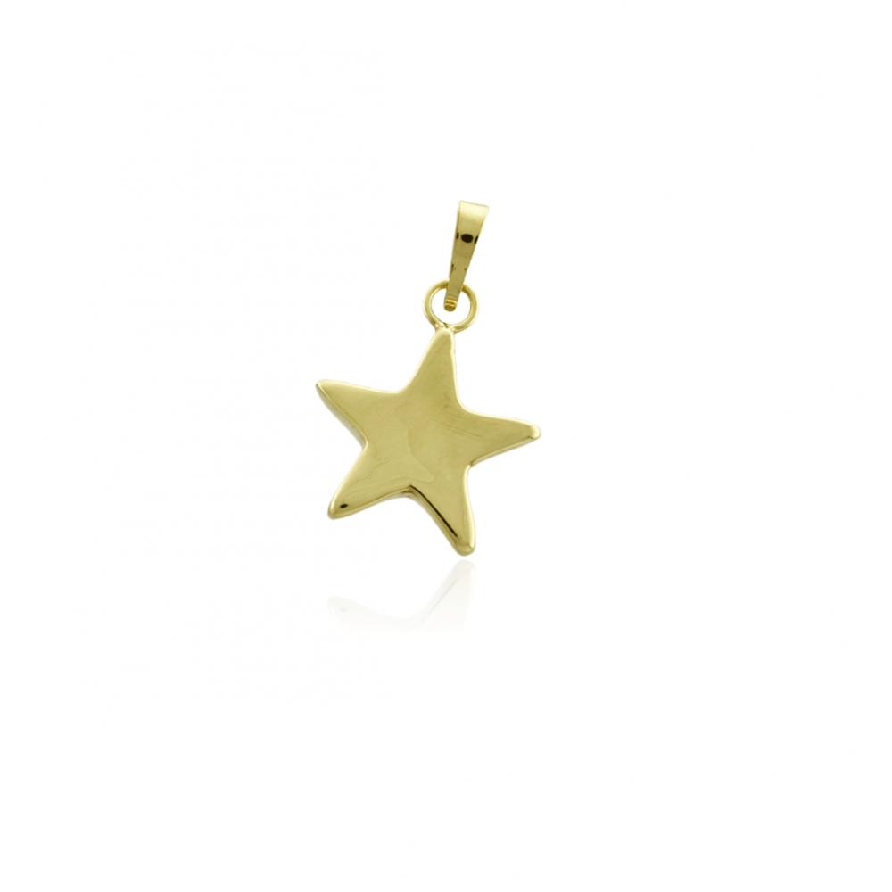 Colgante Oro de Ley 18k estrella