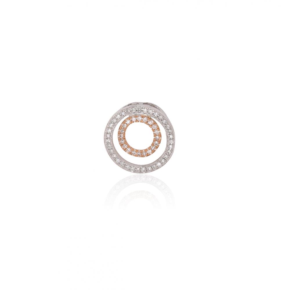 Colgante Oro 18k y diamantes bicolor
