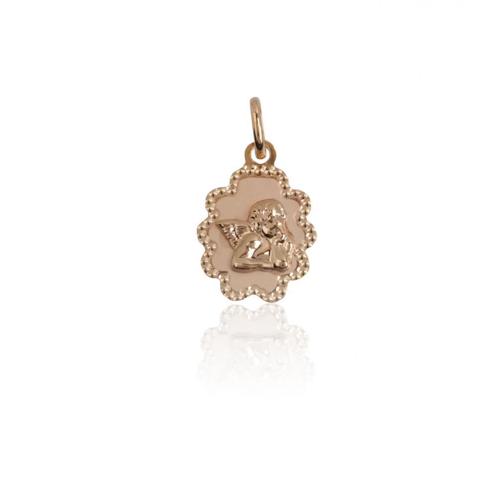 Colgante medalla Angel Nube Oro 9k