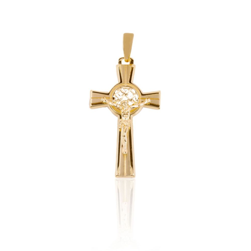 Cruz Oro 9k Cristo Diseño