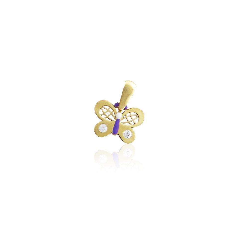 Colgante niña Oro9 mariposa