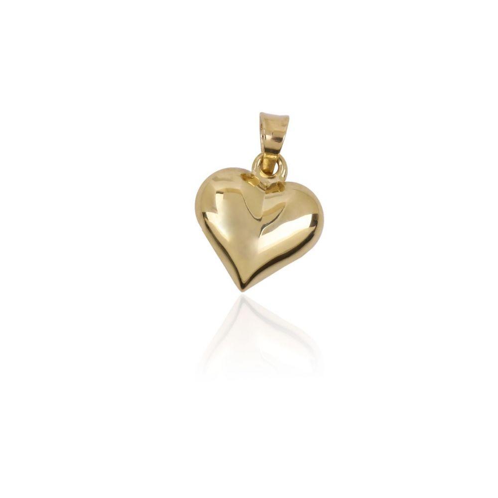 Colgante Oro 9kt mini-corazón liso