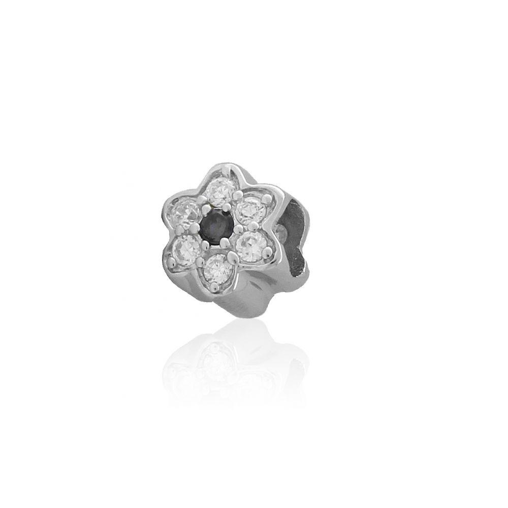 Abalorio plata flor