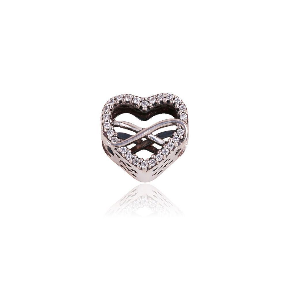 Abalorio plata corazon infinito