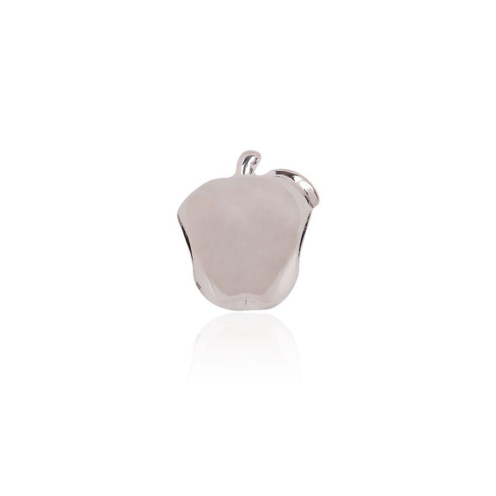 Abalorio plata manzana