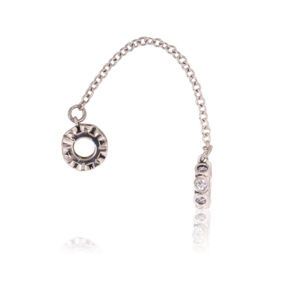 Abalorio plata cadena aros