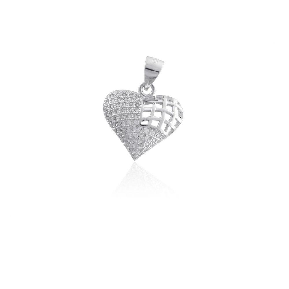 Colgante plata corazón Roselin