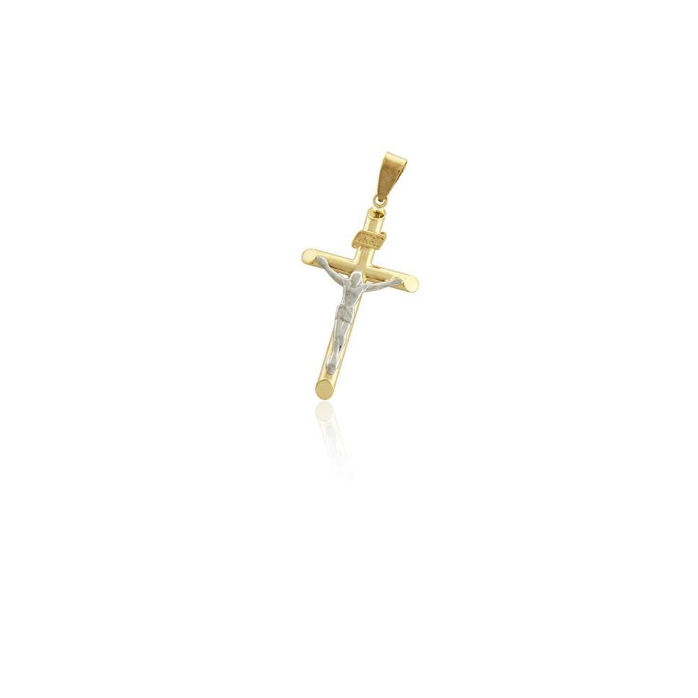 Colgante Oro y Plata cruz cristo Roselin