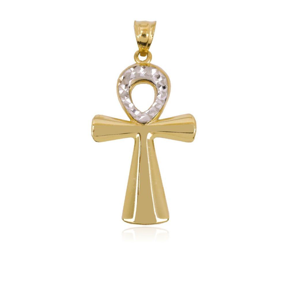 Cruz Oro y Plata Bicolor De La Vida