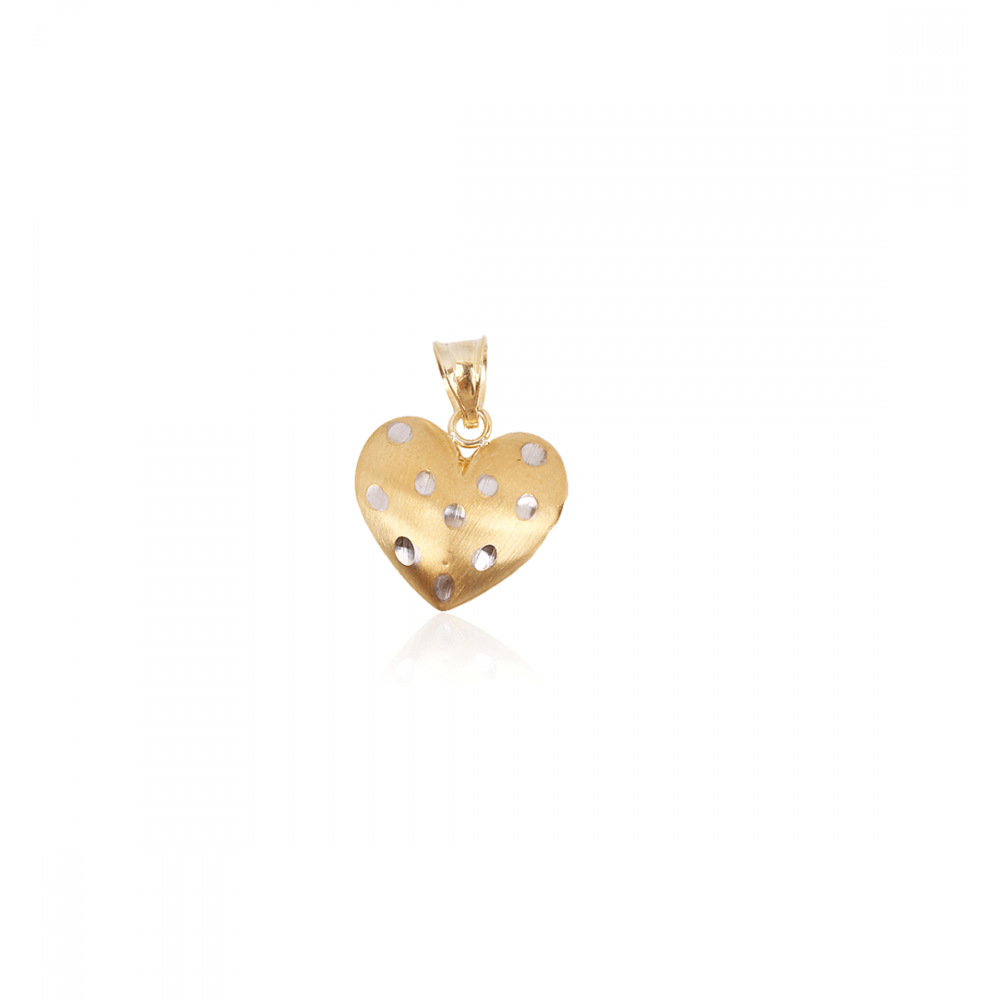 Colgante Oro 18 kts y plata corazón Roselin