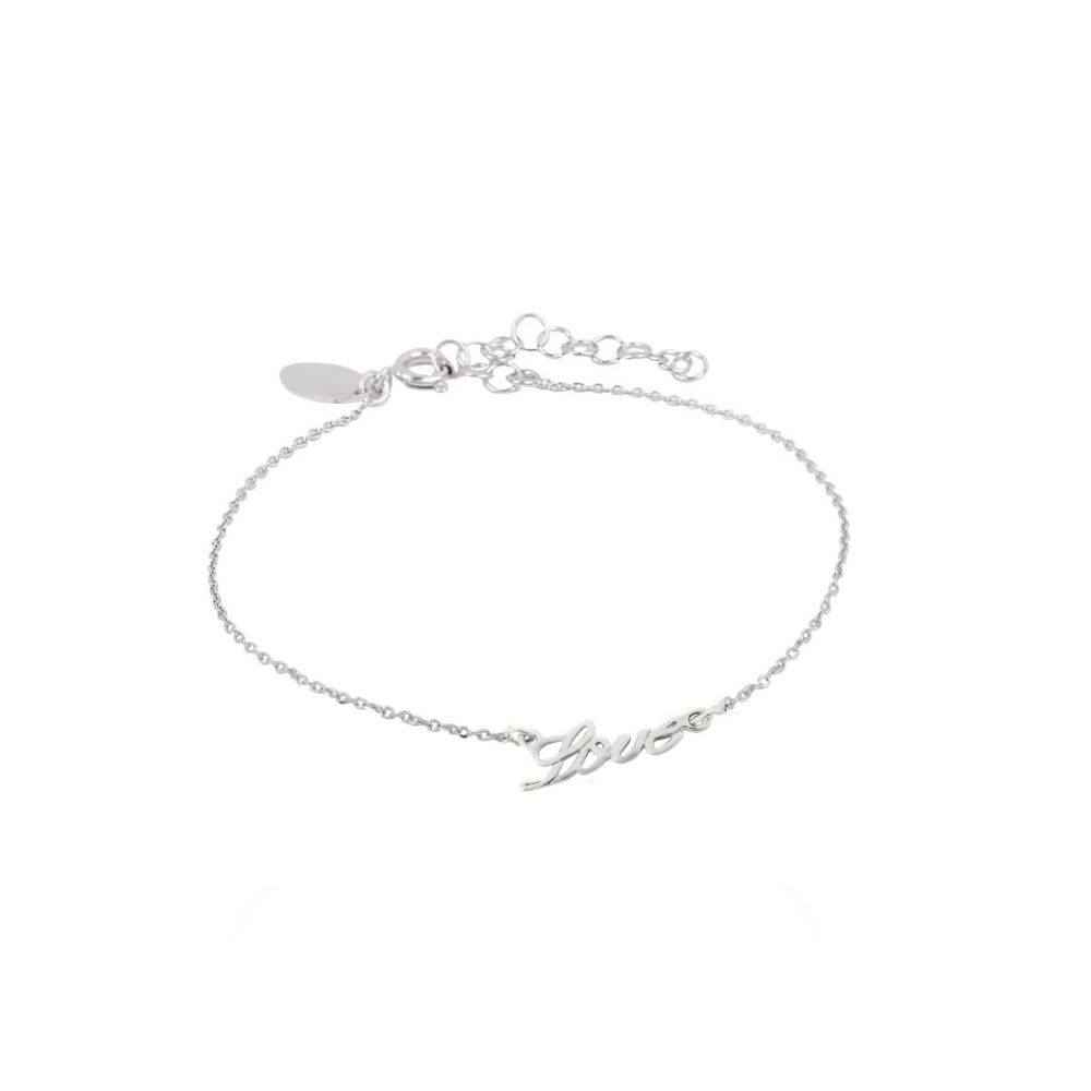 Pulsera Plata Love Trendy