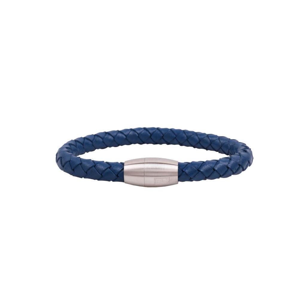 Pulsera acero RS trenza azul