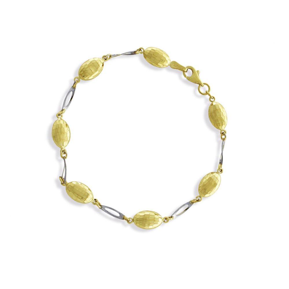 Pulsera Oro y Plata ovales Roselin