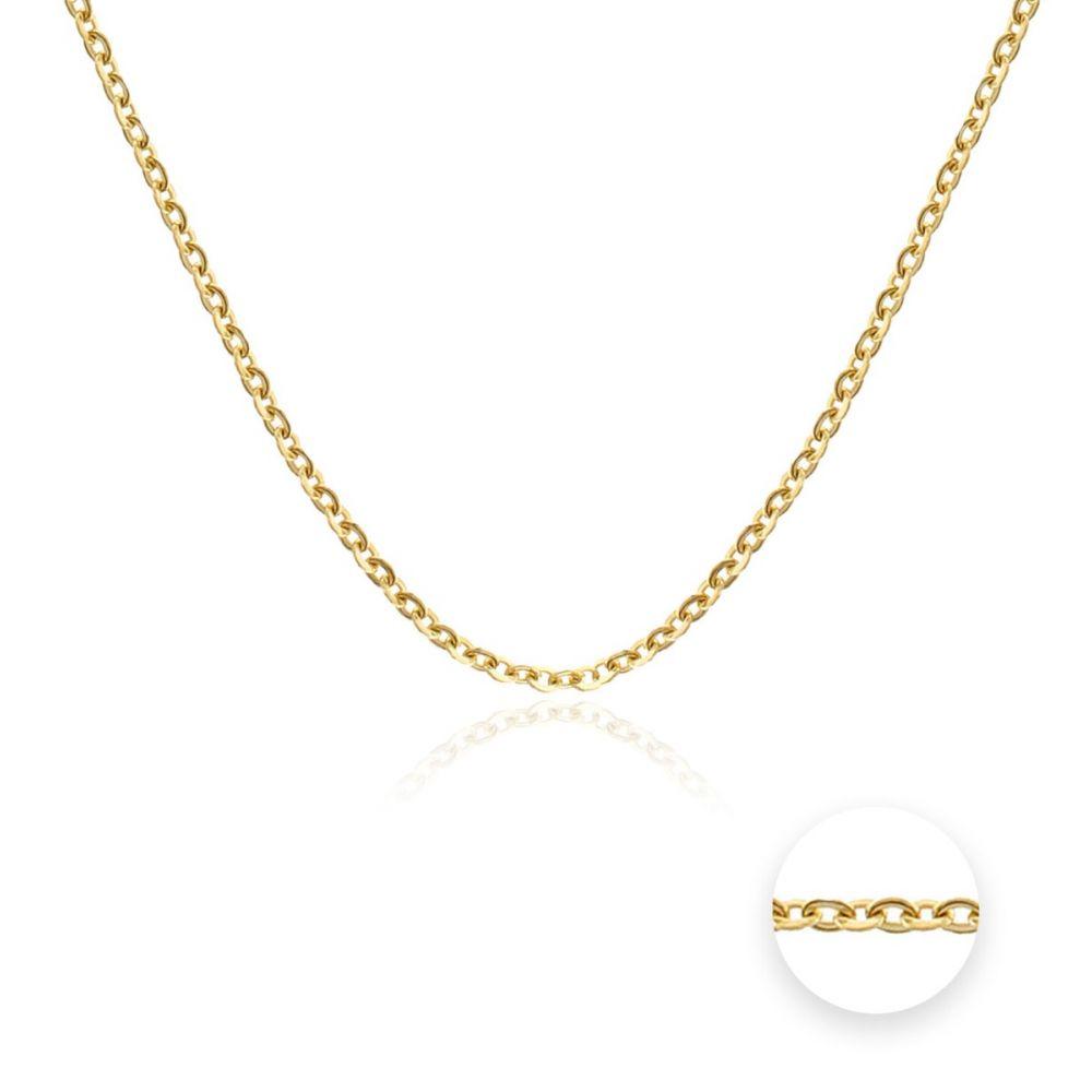 Cadena oval forzada Oro 18k