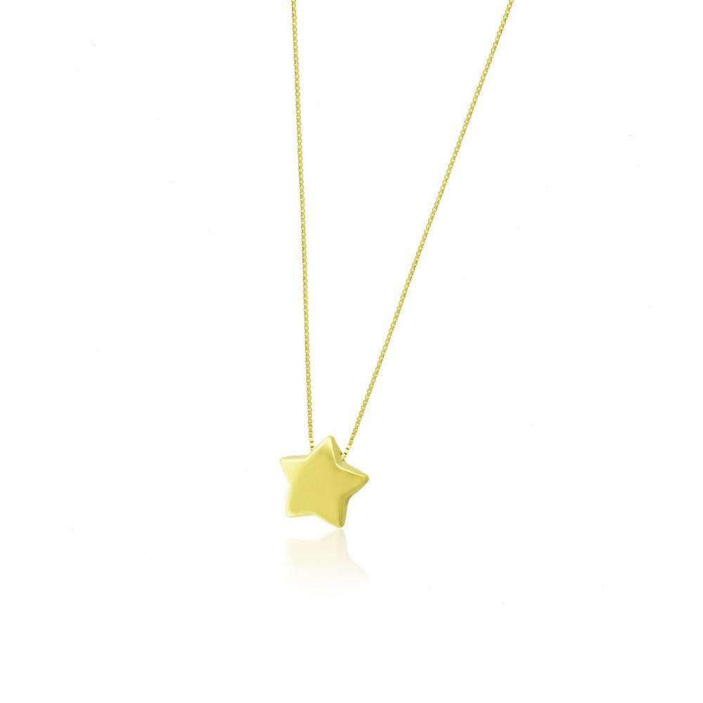 Gargantilla Oro 18 kts estrella Roselin Trendy
