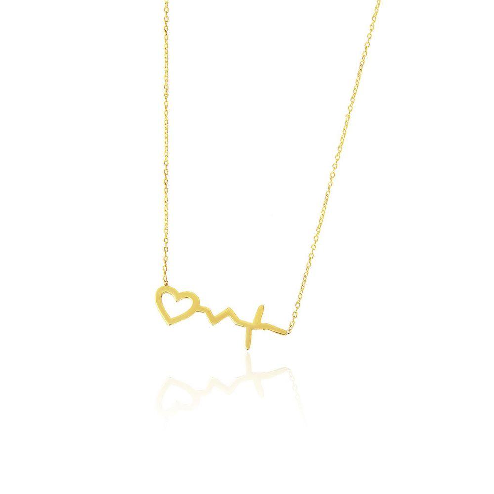 Gargantilla Oro 18k corazón electro Trendy
