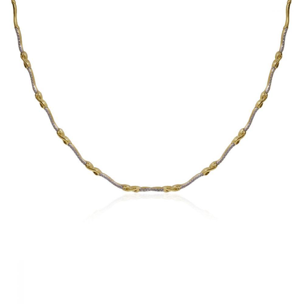 Gargantilla Oro 18k circonitas infinito