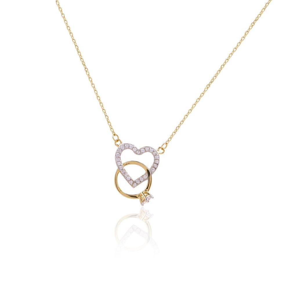 Gargantilla Oro 18k anillo corazón