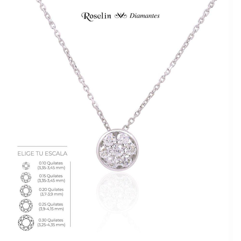 Gargantilla redonda Oro 18k y diamantes. Elige tu escala