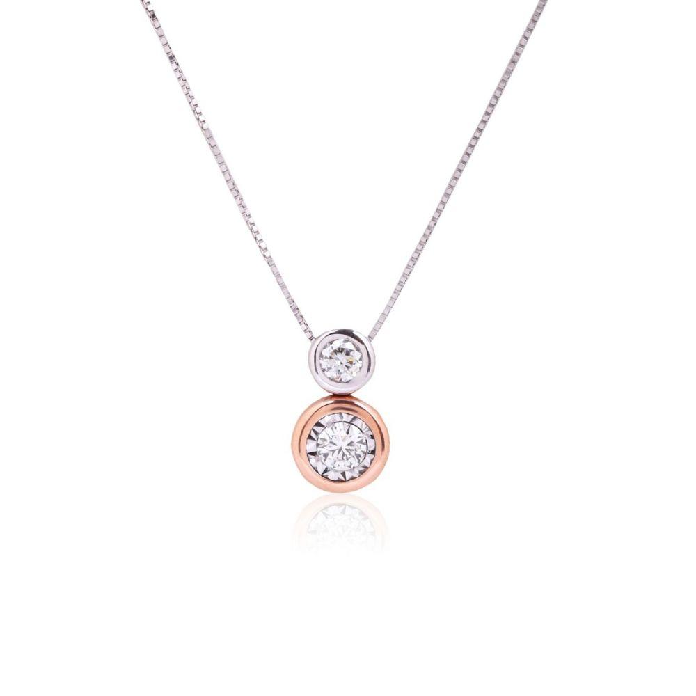 Gargantilla Diamantes y Oro 18k bicolor rosa
