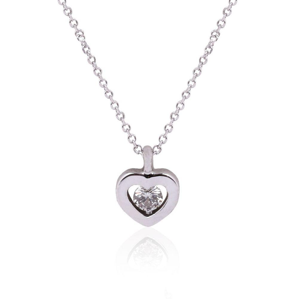 Gargantilla Oro 18k y Diamante en corazón