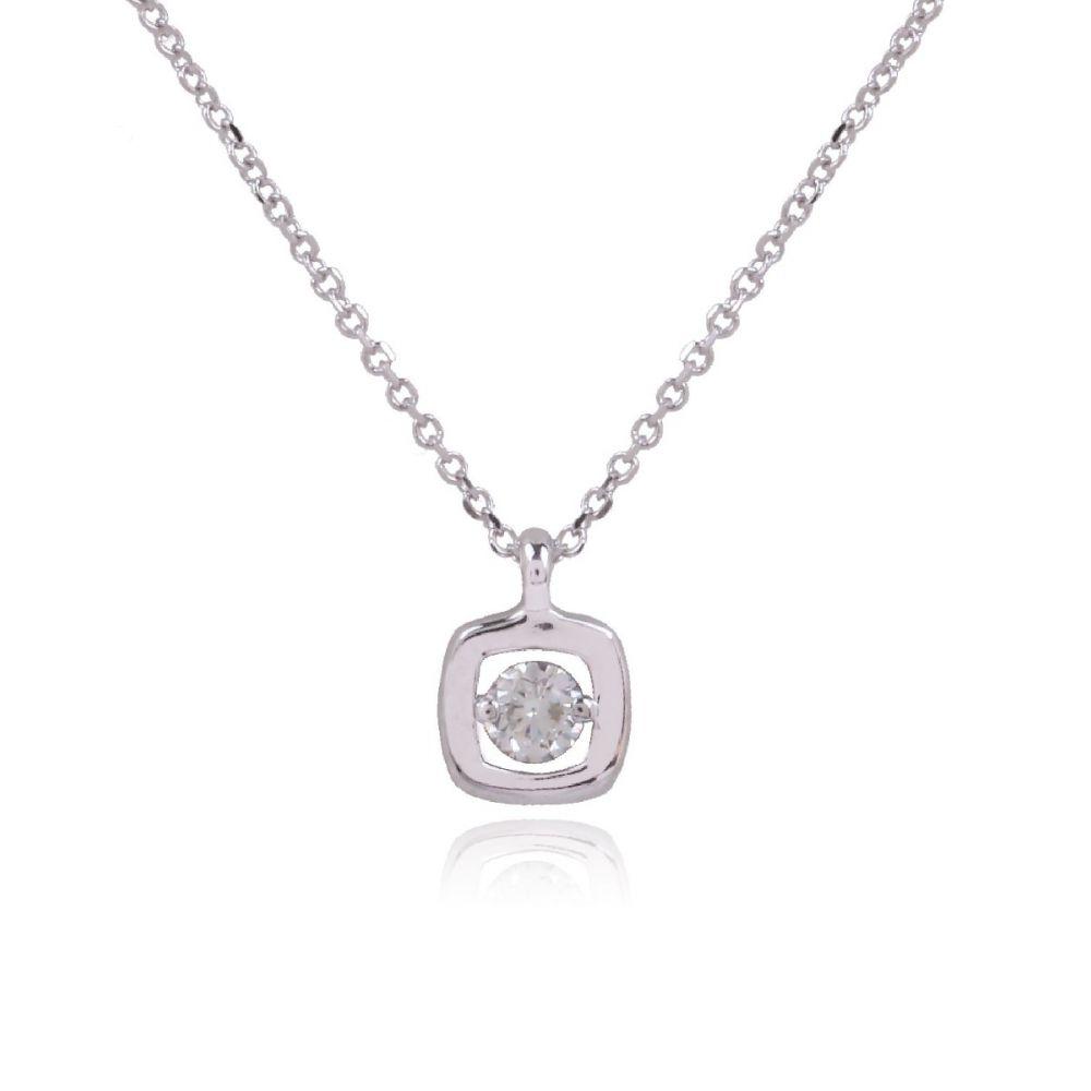 Gargantilla Oro 18k y Diamante en cuadrado