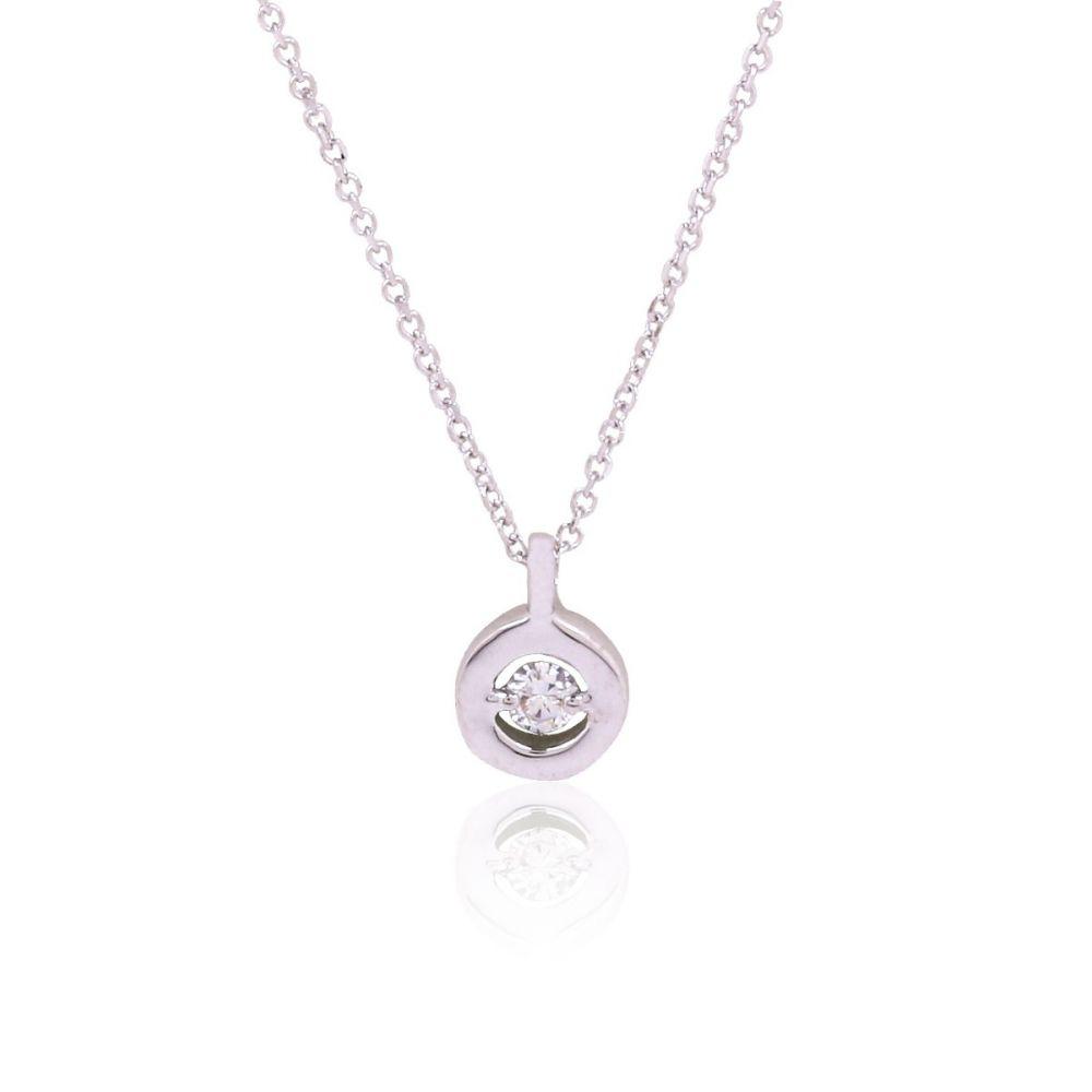 Gargantilla Oro 18k y Diamante en círculo