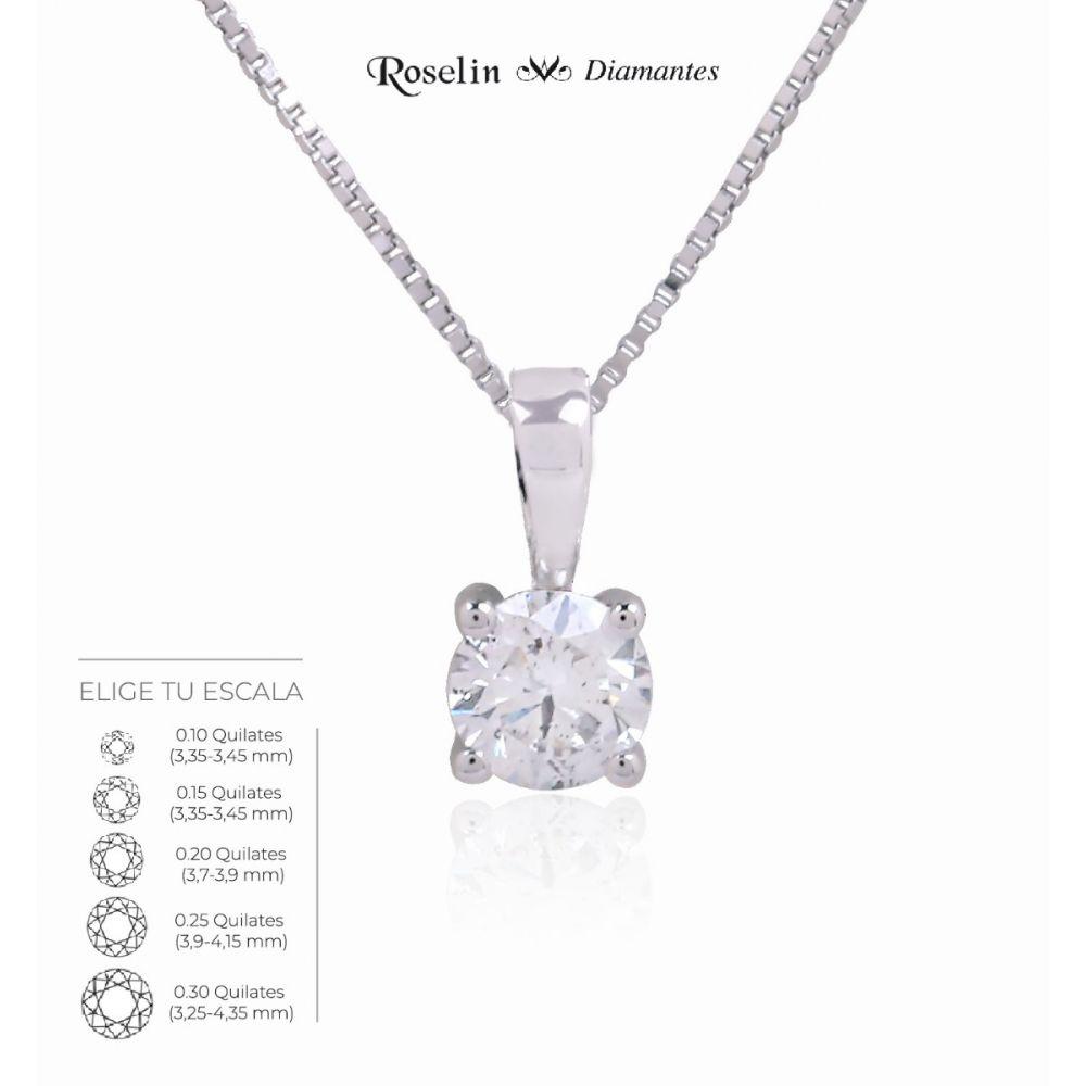 Gargantilla Oro 18k Diamante en Garras. Elige tu escala
