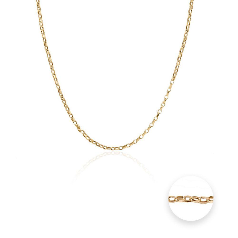 Cadena Oro 9k oval forzada II