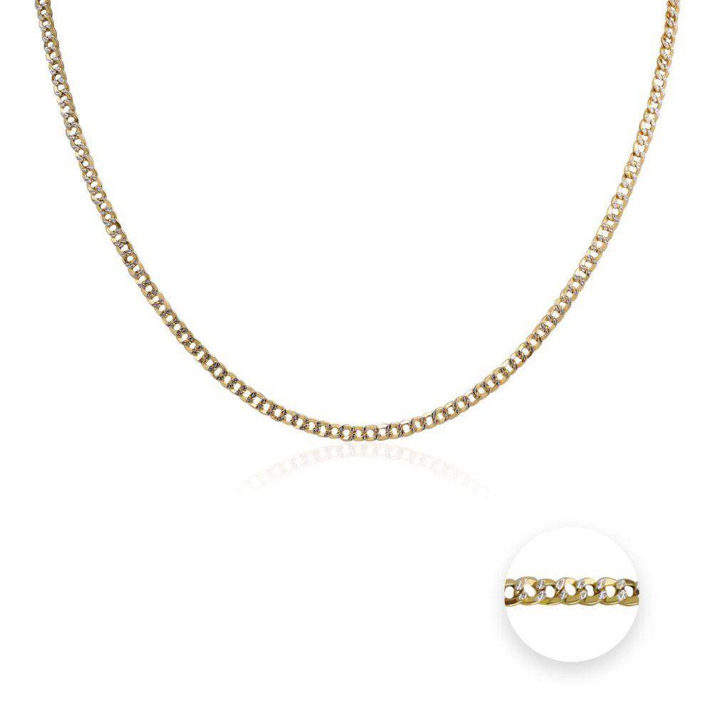 Cadena Oro 9k bicolor barbada