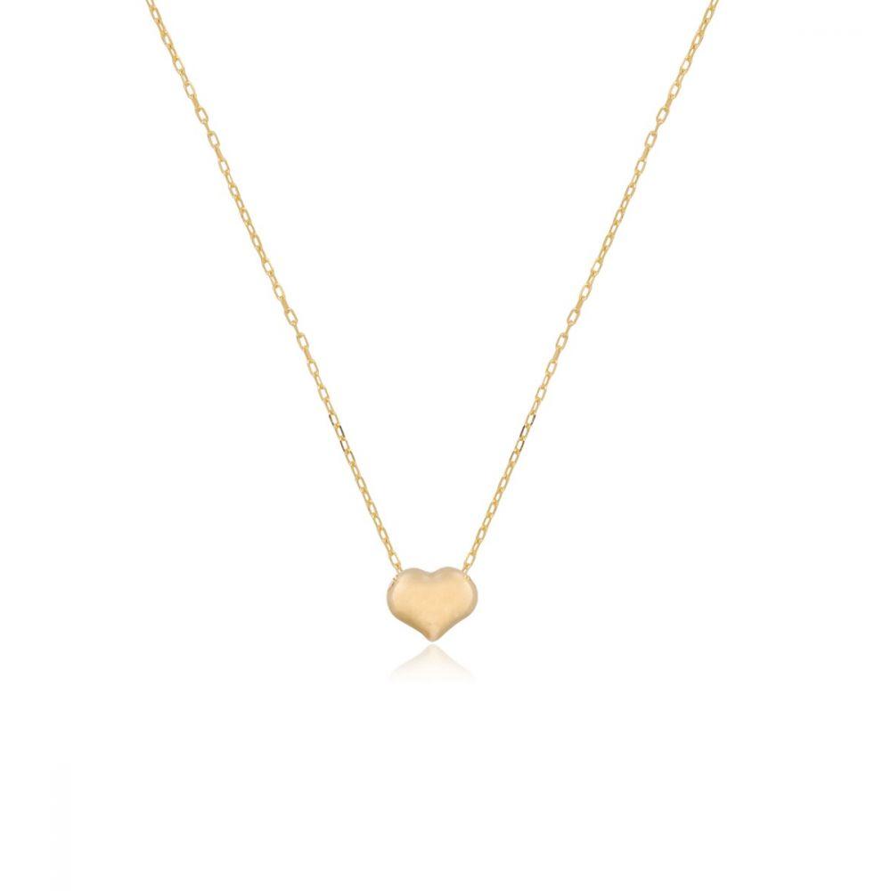 Gargantilla Oro 9k corazón relieve