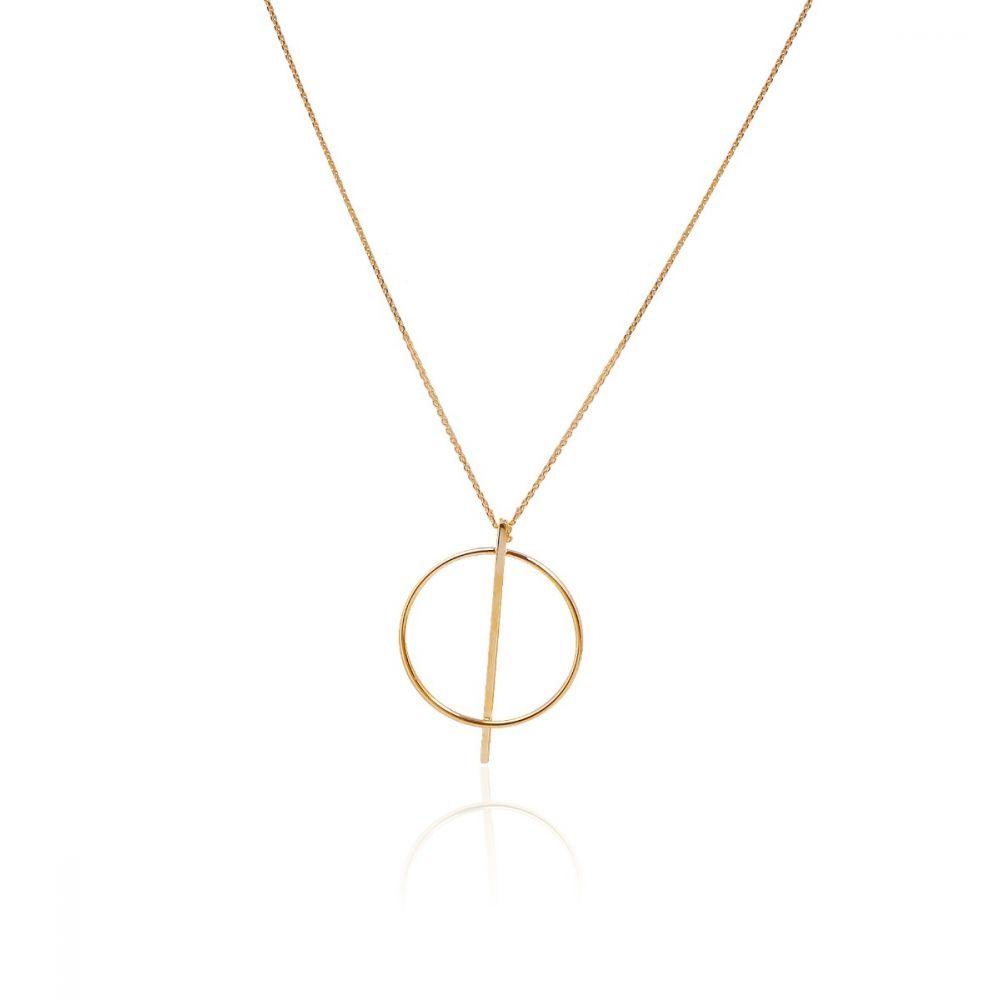 ced6db2a0097 Gargantilla Oro 9k círculo y barra