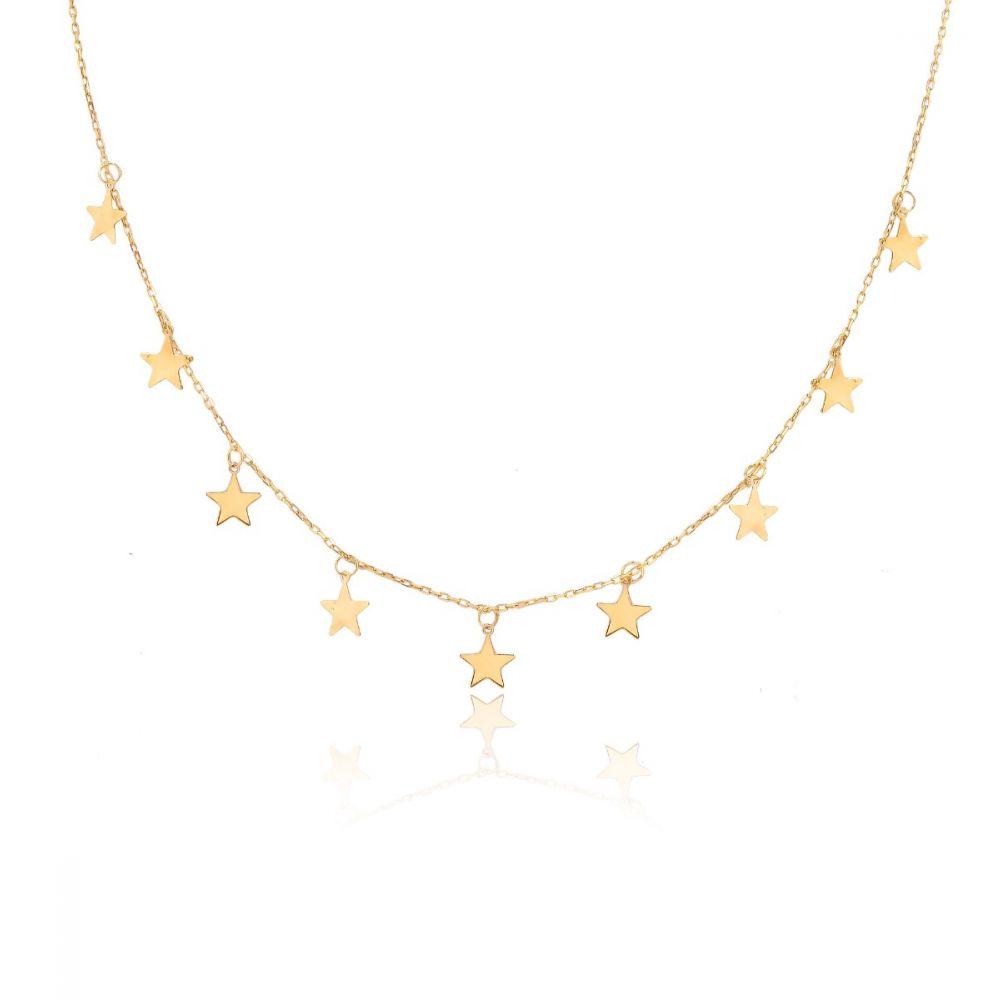 Gargantilla Oro 9k Estrellas