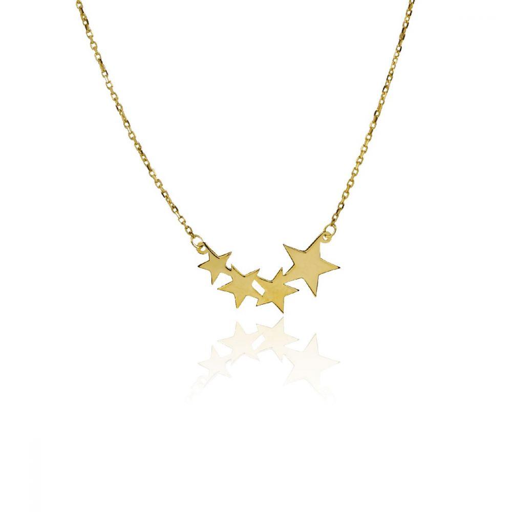 Gargantilla Oro ley 9kt estrellas trepadoras