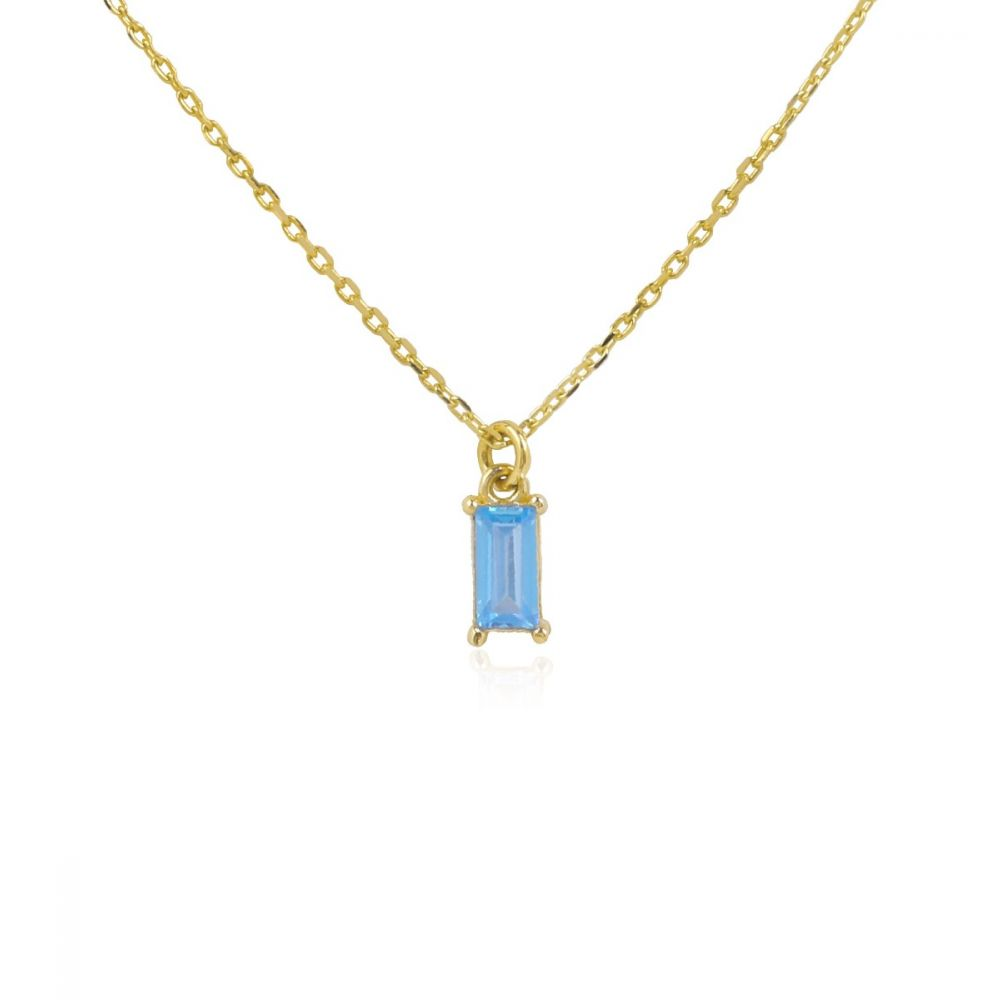 Gargantilla ATLANTIS Azul Oro ley 9k