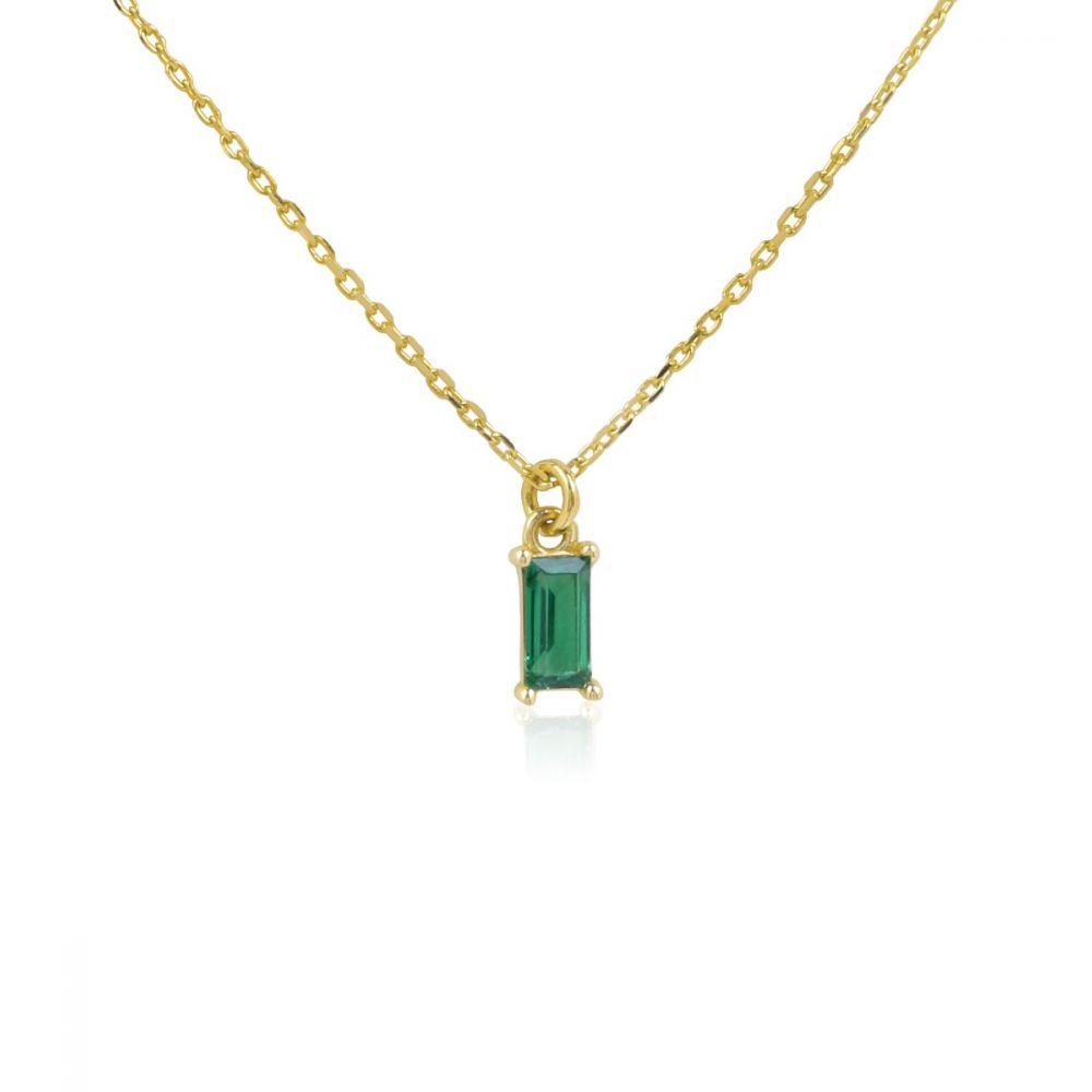 Gargantilla ATLANTIS Verde Oro ley 9k