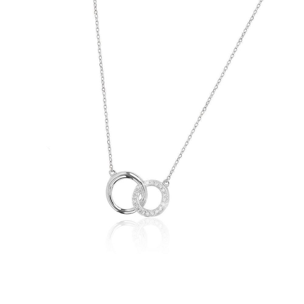 Gargantilla Oro blanco 9k y diamantes aros