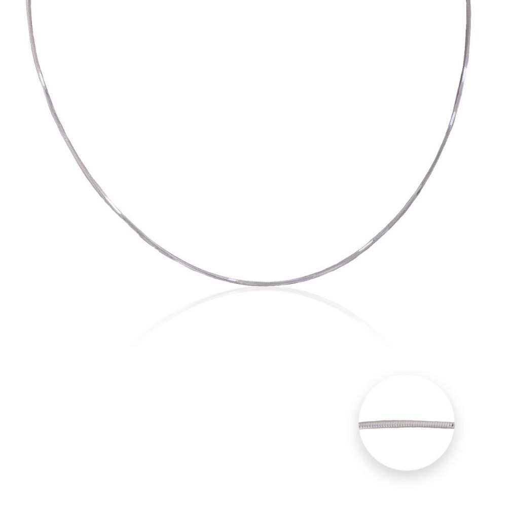 Cadena plata ley cola de topo cuadrada